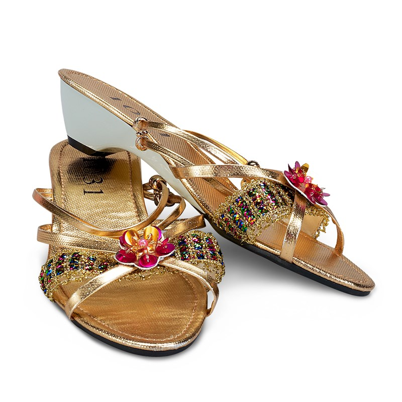 Gold Jewel Child Slippers for the 2015 Costume season.