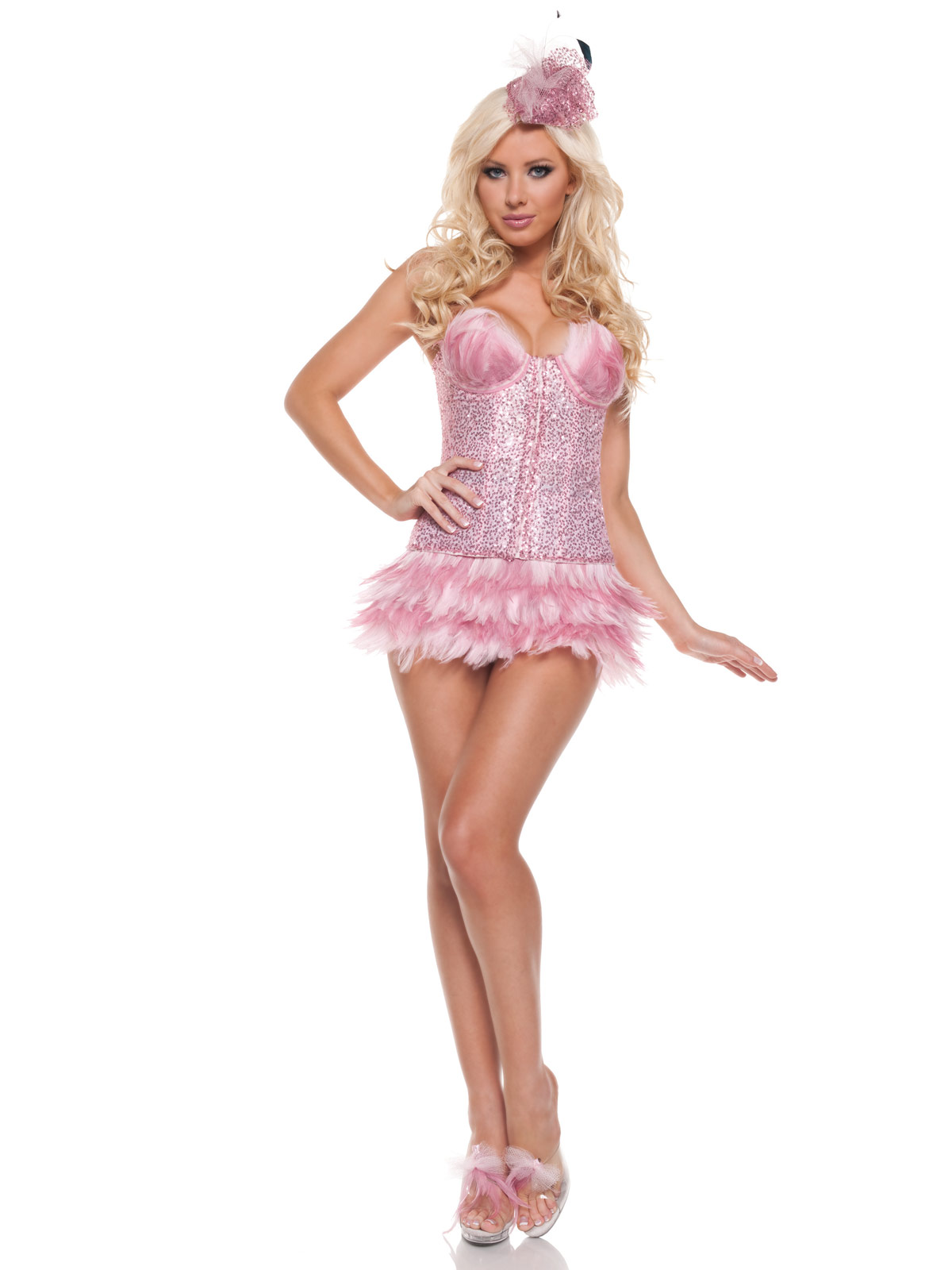Roma Costumes Adult Sexy Flamingo Adult Costume- Pink: Small