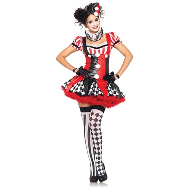 Harlequin Clown Adult Costume
