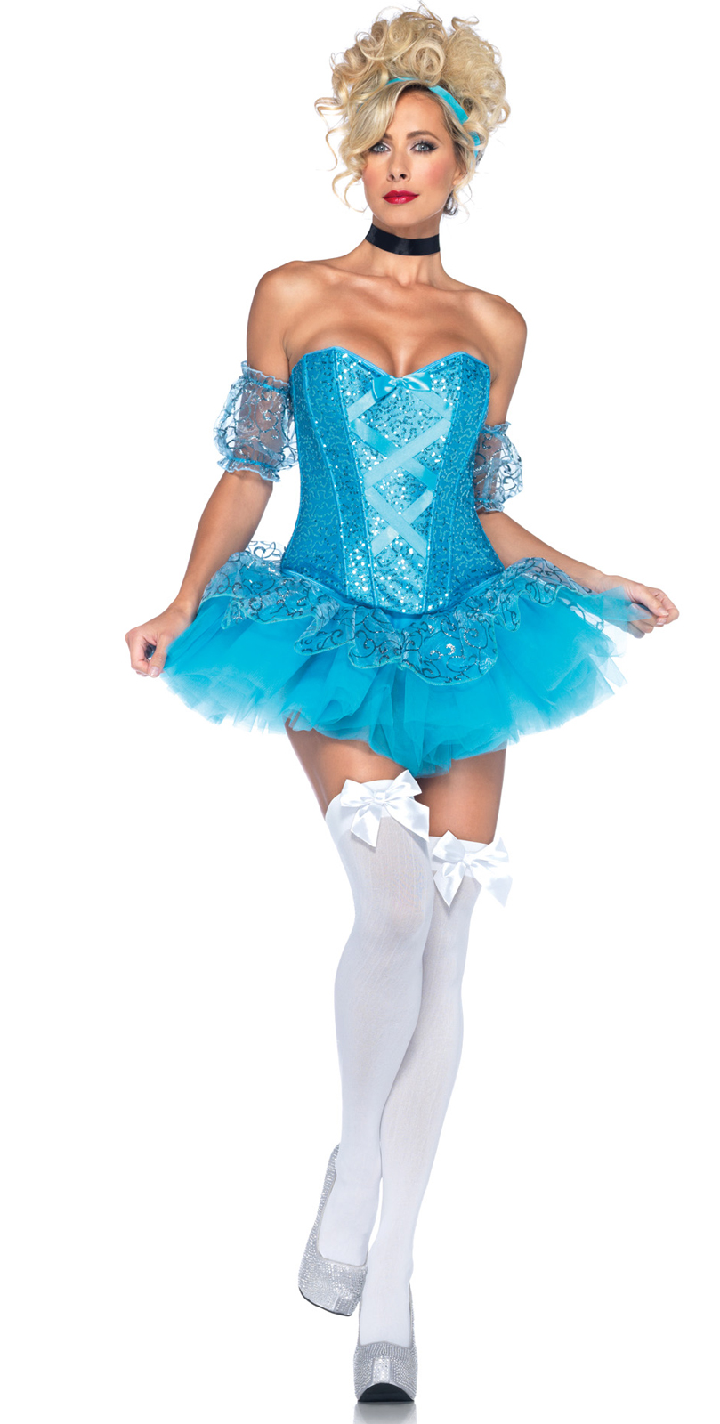 Leg Avenue Adult Sexy Cinderella Adult Costume- Blue: Small