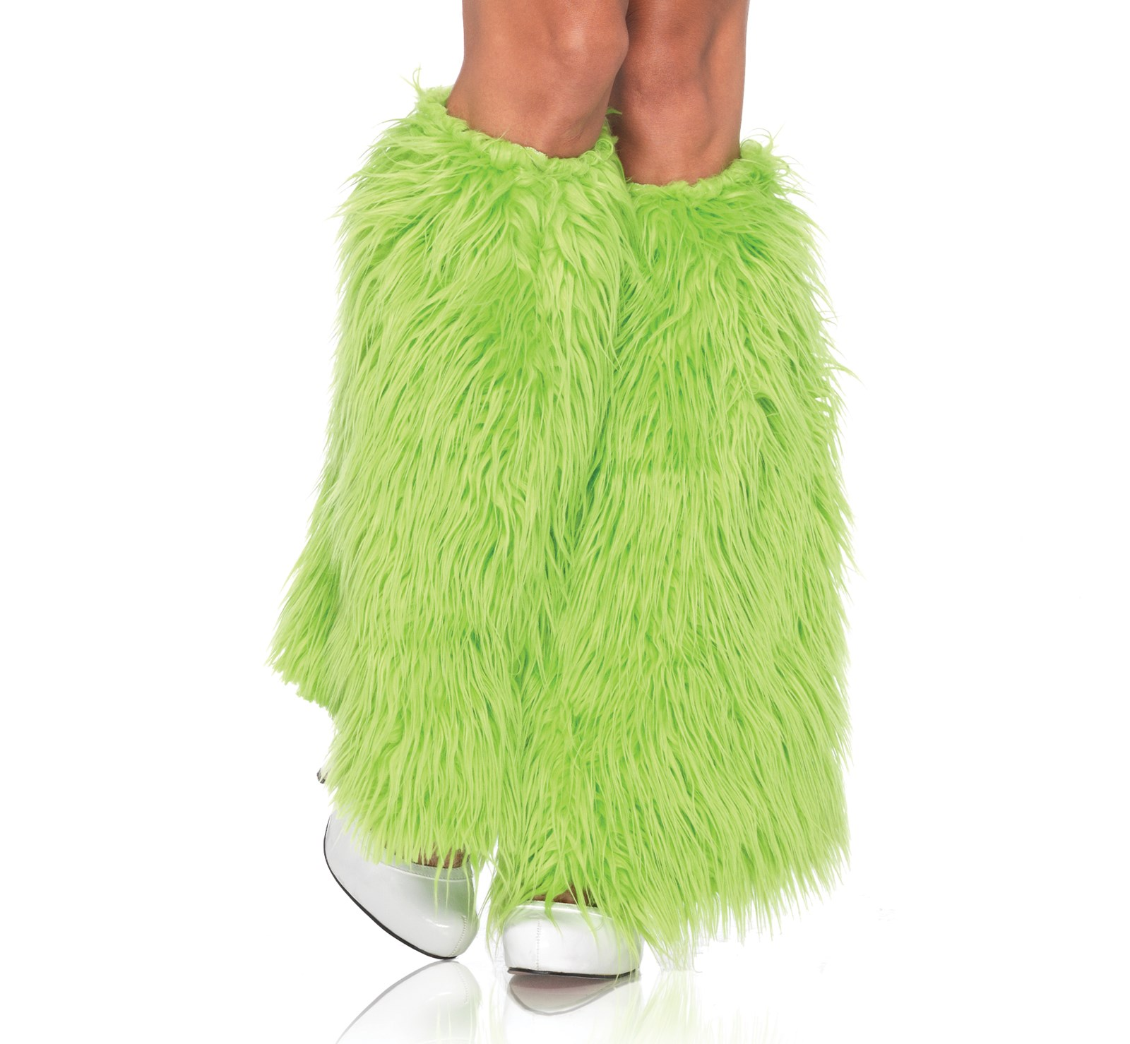 Image of Furry Green Leg Warmers (Adult)