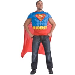 DC Comics Superman Muscle Chest Adult Costume Kit