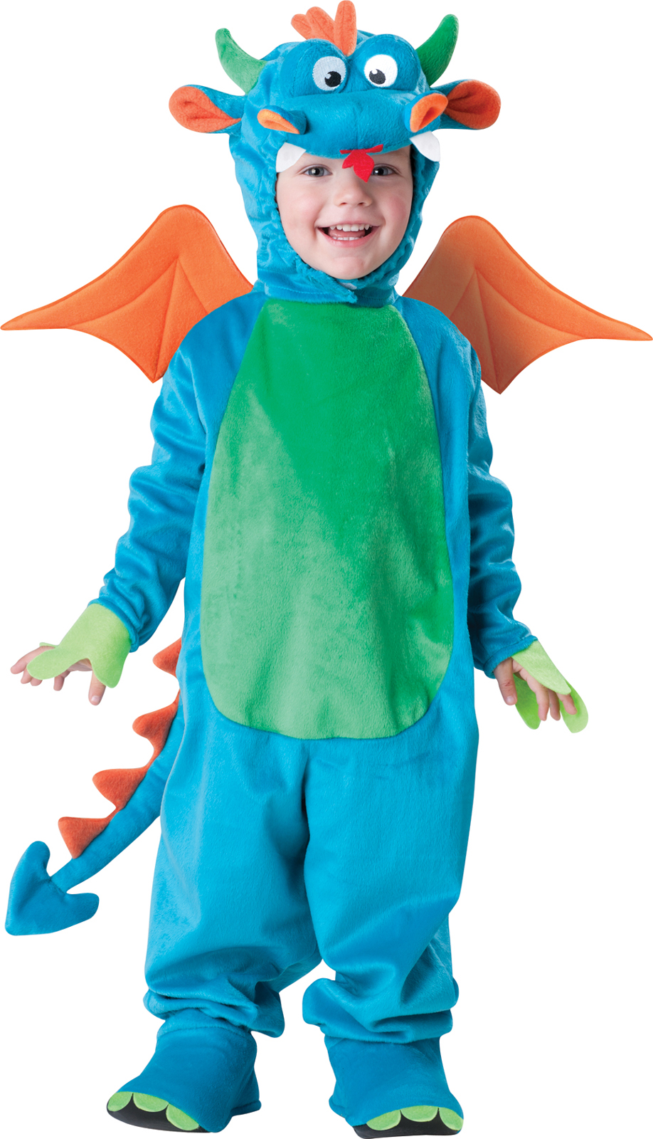 In Character Costumes Adult Dinky Dragon Toddler Costume- Blue: 4T