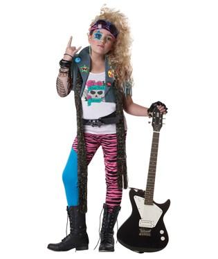 80s Glam Rocker Plus Child Costume