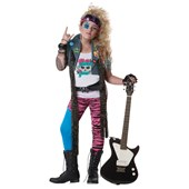 80's Glam Rocker Plus Child Costume