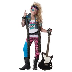 80's Glam Rocker Plus Child Costume