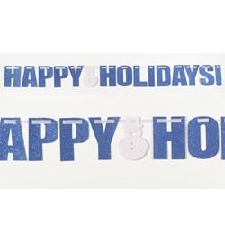 Happy Holidays - Glitter Banner