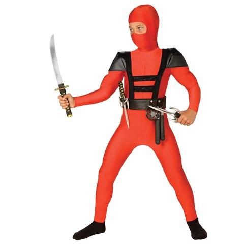 Red Fighter Ninja Child Costume