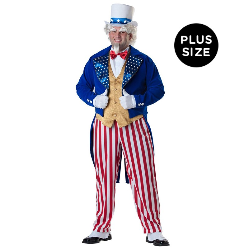 Uncle Sam Elite Collection Adult Plus Costume for the 2015 Costume season.