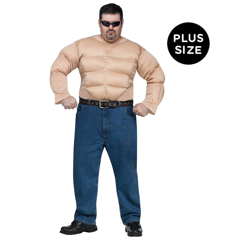 Muscle Chest Shirt Adult Plus Costume for the 2015 Costume season.