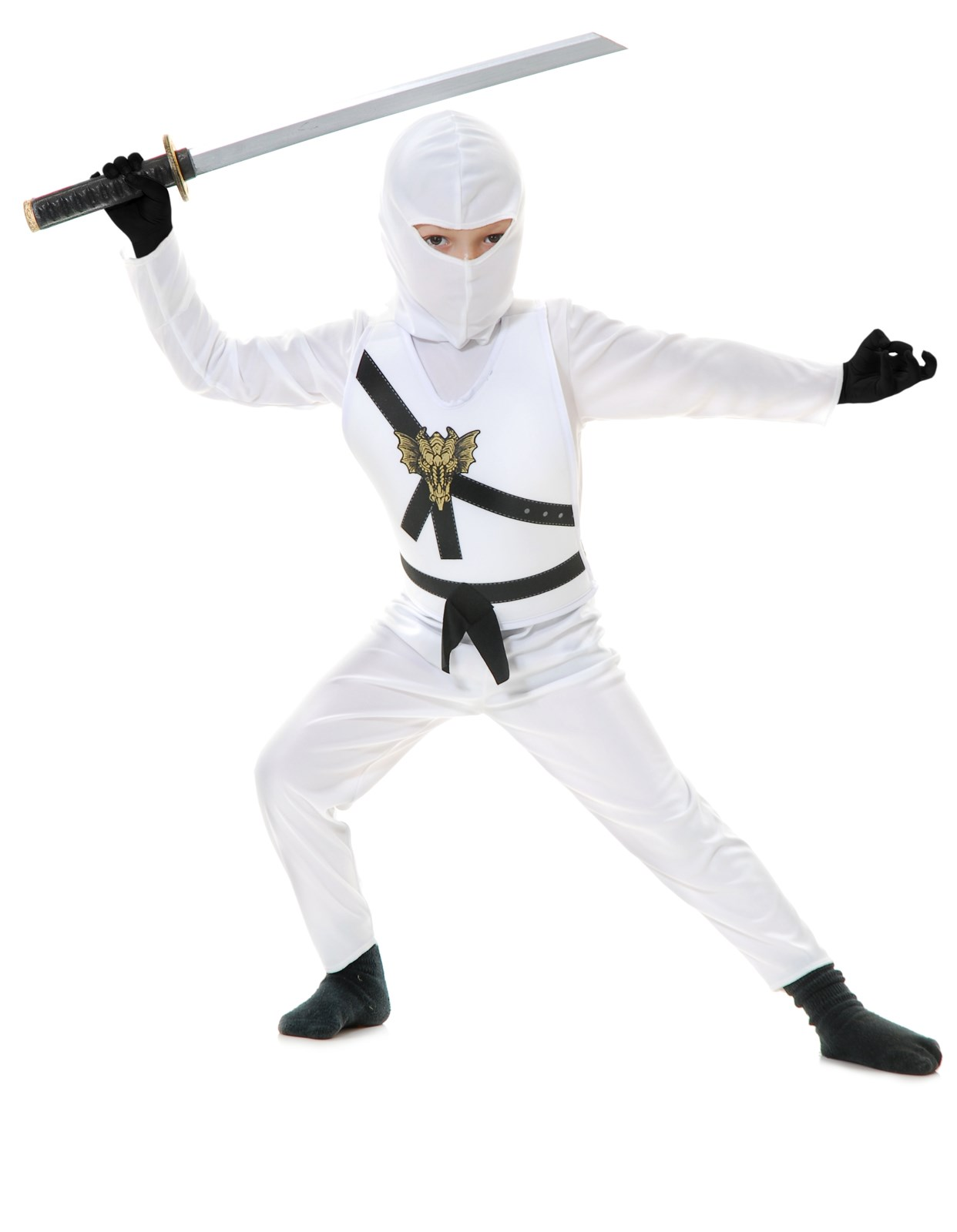 White Ninja Toddler Costume