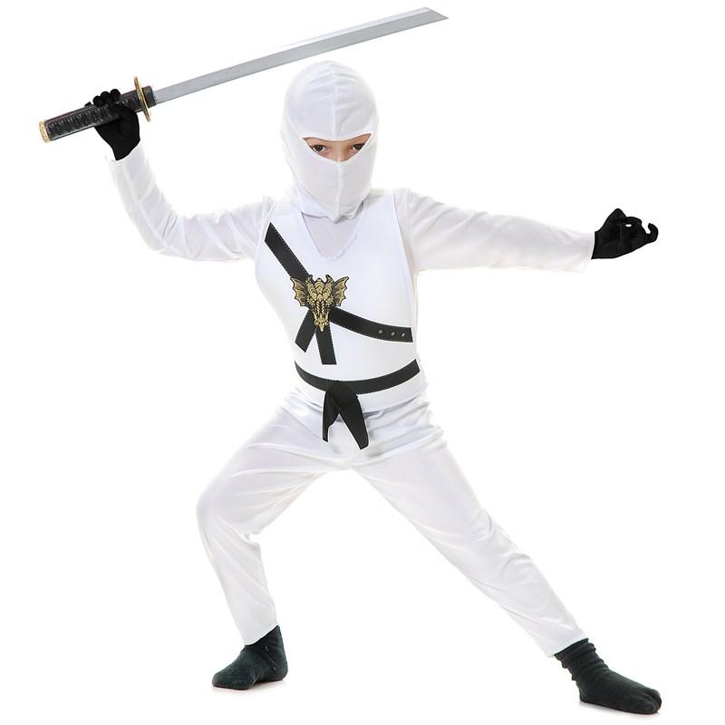 White Ninja Child Costume for the 2015 Costume season.