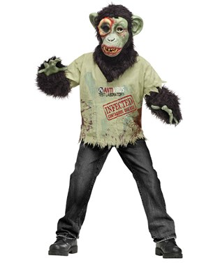 Zombie Chimp Child Costume