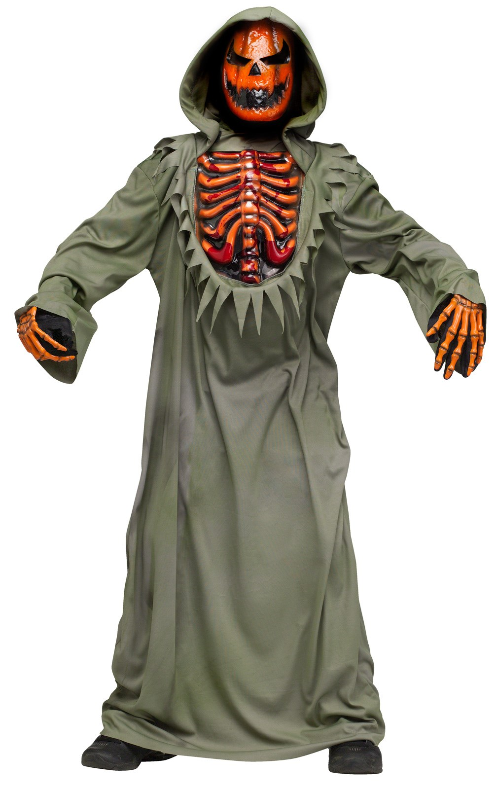 Bleeding Chest Evil Pumpkin Child Costume
