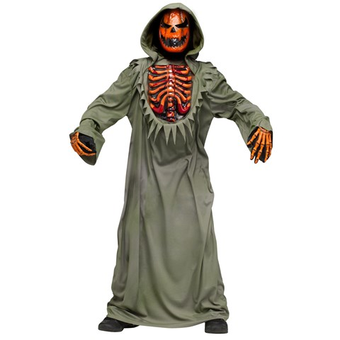 Bleeding Chest Evil Pumpkin Child Costume