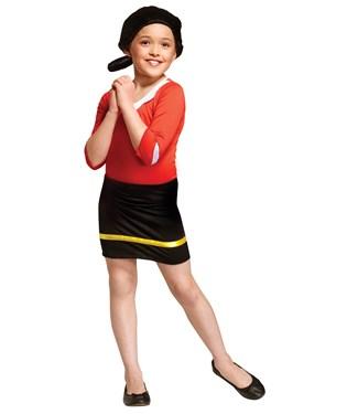 Popeye Olive Oyl Child Costume