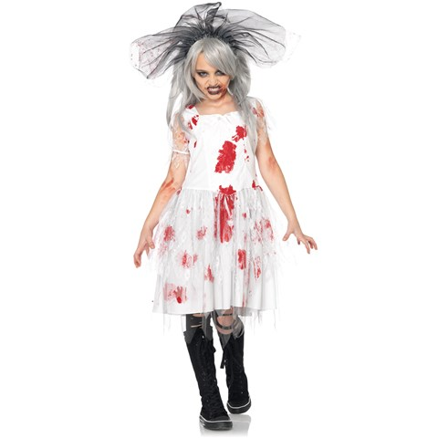 Zombie Bride Child Costume