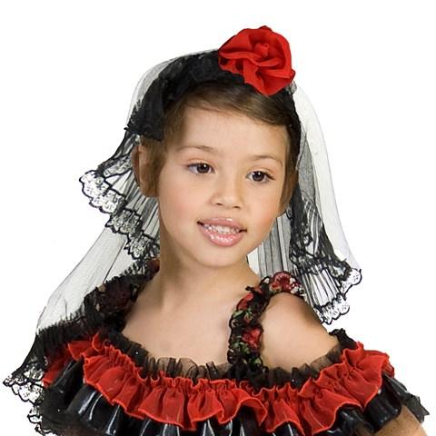 Red Rose Spanish Dancer Headpiece