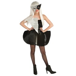 Lady Gaga Black and Silver Sequin Dress Tween Costume