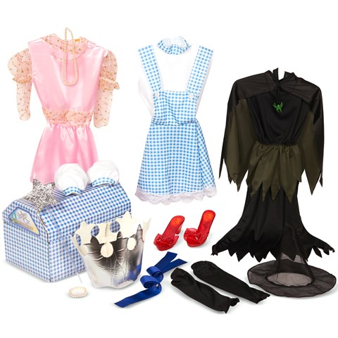 The Wizard of Oz Dress Up Trunk Child Costume Kits