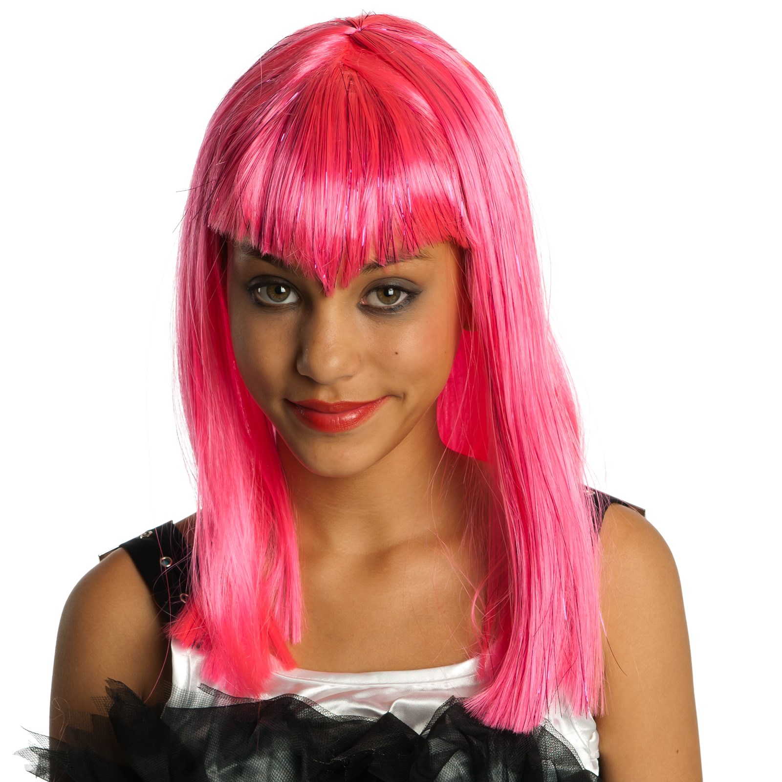 Glitter Vamp Pink Child Wig
