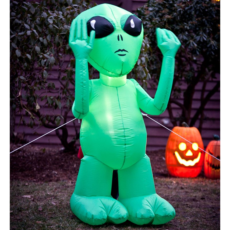 Inflatable Green Alien for the 2015 Costume season.