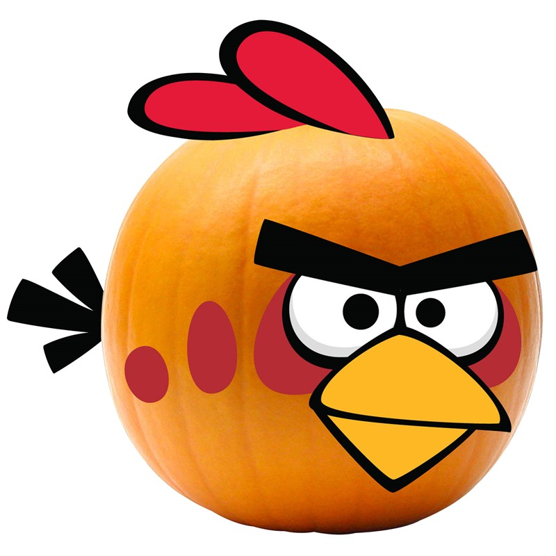 Rovio Angry Birds Red Bird Pumpkin Push Ins for the 2015 Costume season.