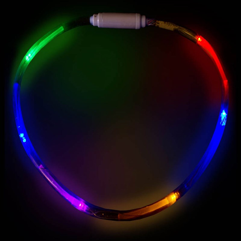 Multi Color LED Fiber Optic Necklace for the 2015 Costume season.