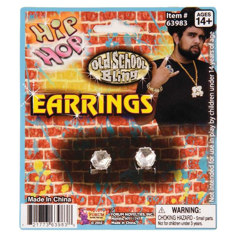 Hip Hop Faux Diamond Stud Earrings for the 2015 Costume season.