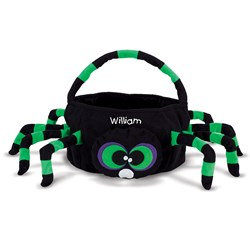 Spider Embroidered Plush Treat Pail