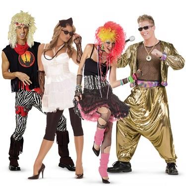 80's Rockstars Group Costumes