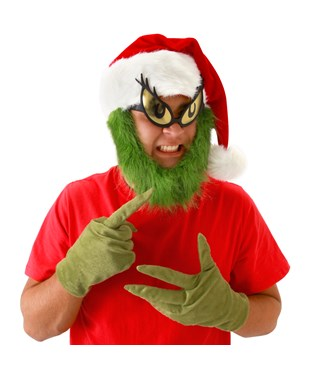 Dr. Seuss Grinch Gloves Adult