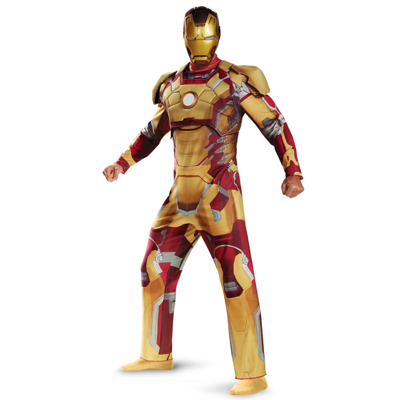 Iron Man 3 Mark 42 Deluxe Plus Adult Costume for the 2015 Costume season.