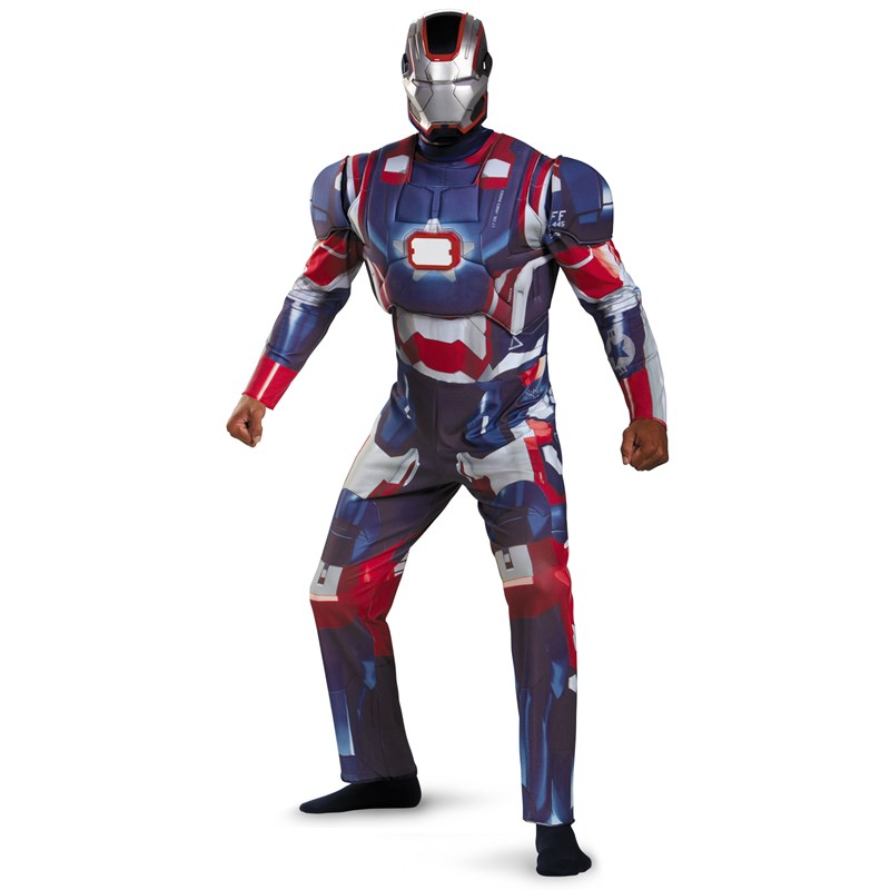 Iron Man 3 Patriot Deluxe Plus Adult Costume for the 2015 Costume season.
