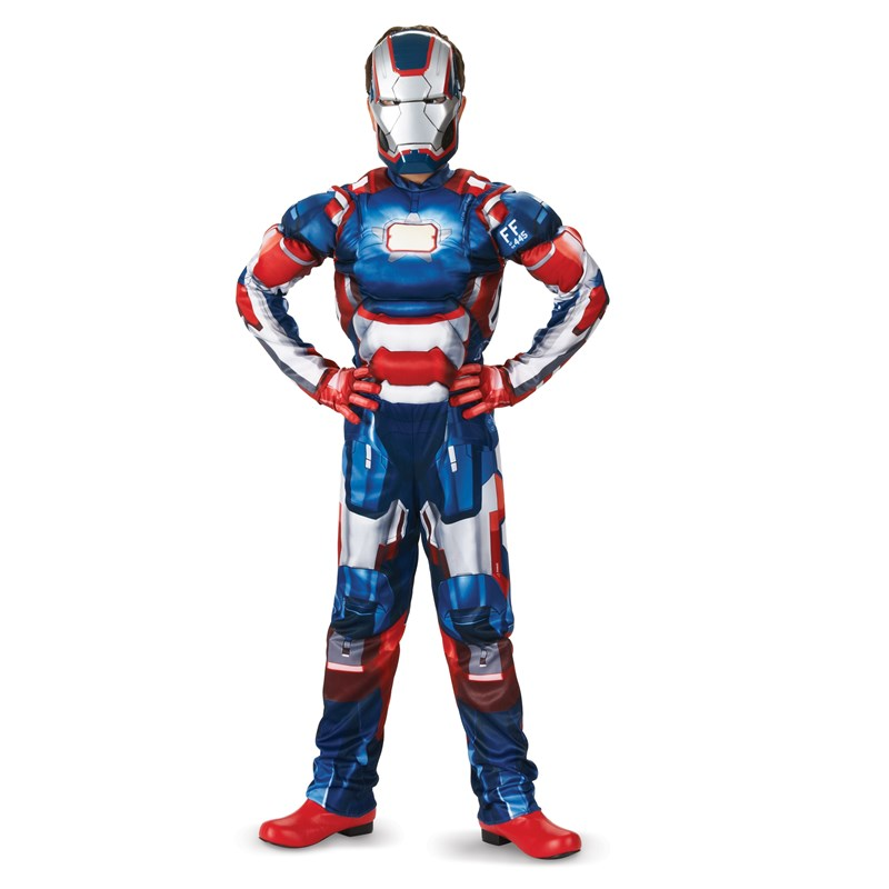 Iron Man 3 Patriot Classic Muscle Toddler  and  Child Costume for the 2015 Costume season.