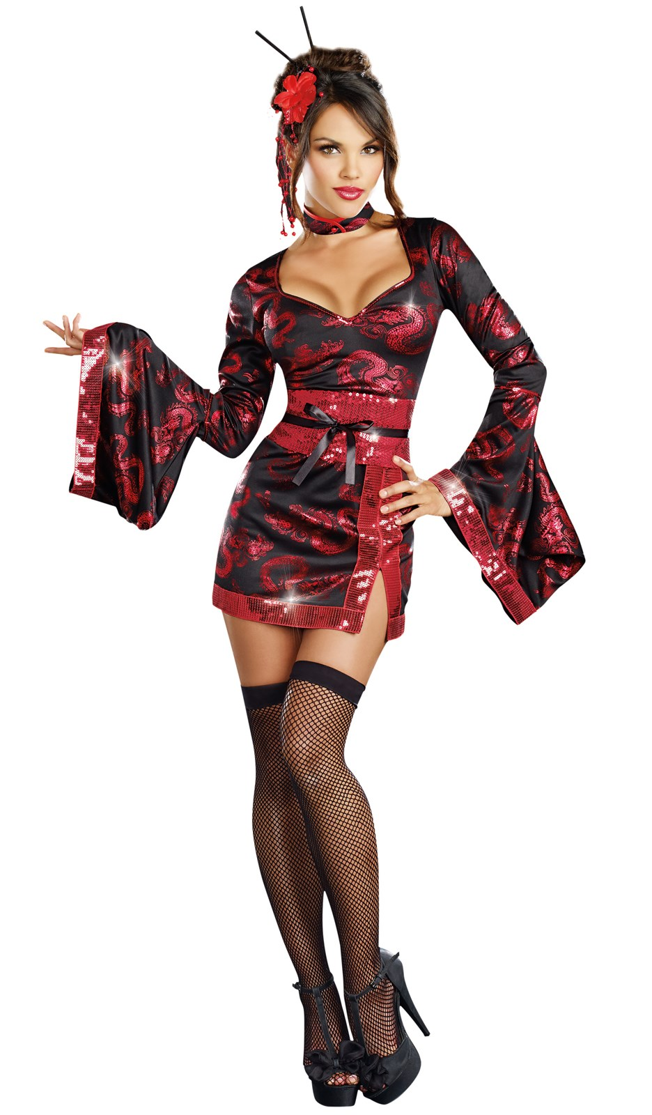 The Geisha with the Dragon Tattoo Adult Costume