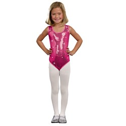 Kids Pink Sequin Leotard