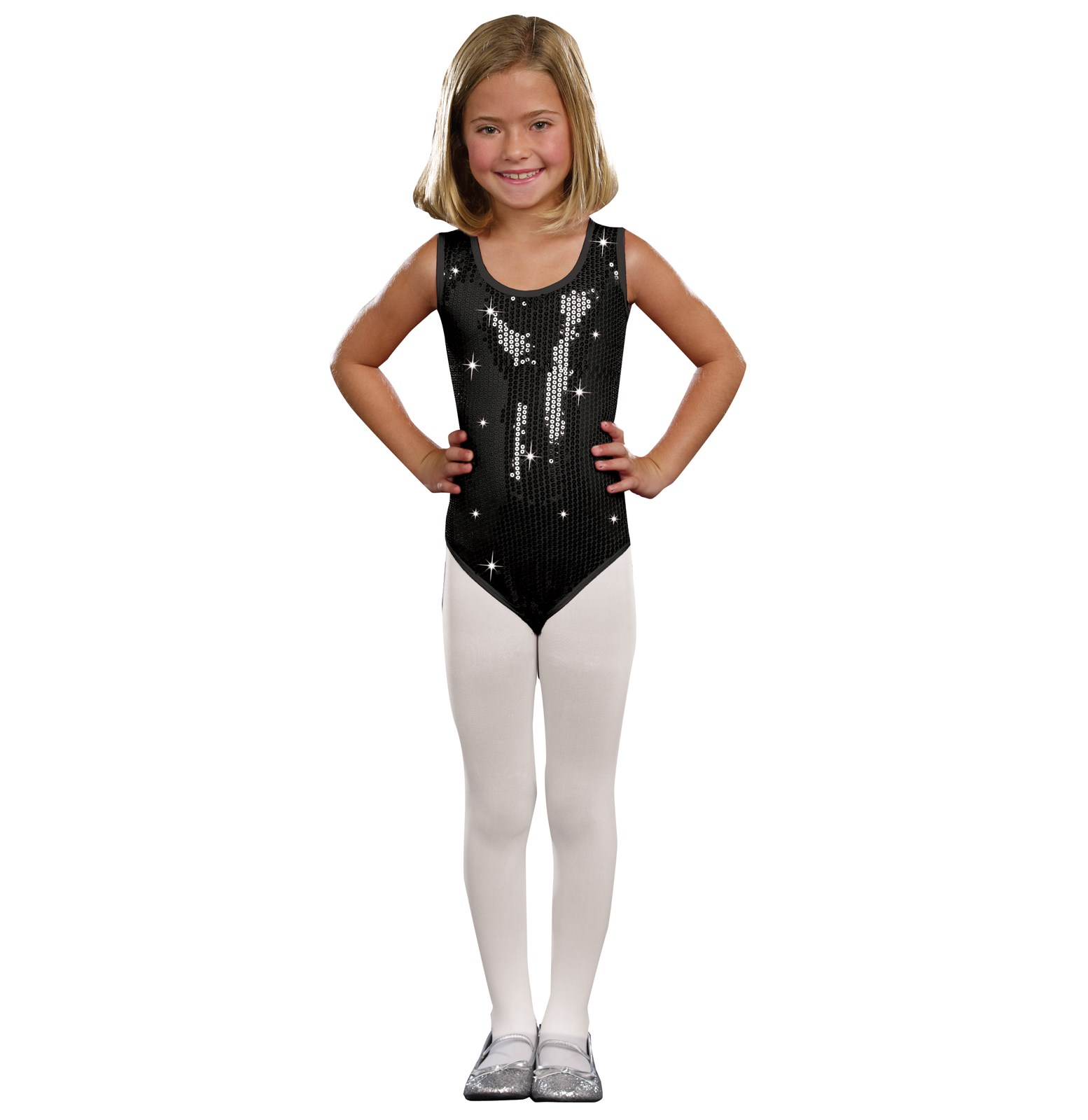 Kids Black Sequin Leotard