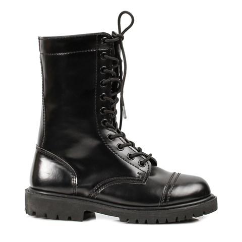 Women's Adult (Black) Combat Boots