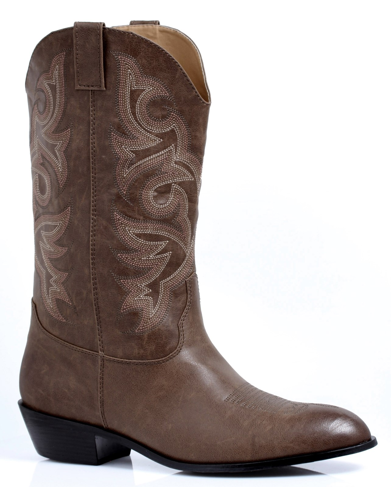 Western Cowboy Brown Male Adult Boots