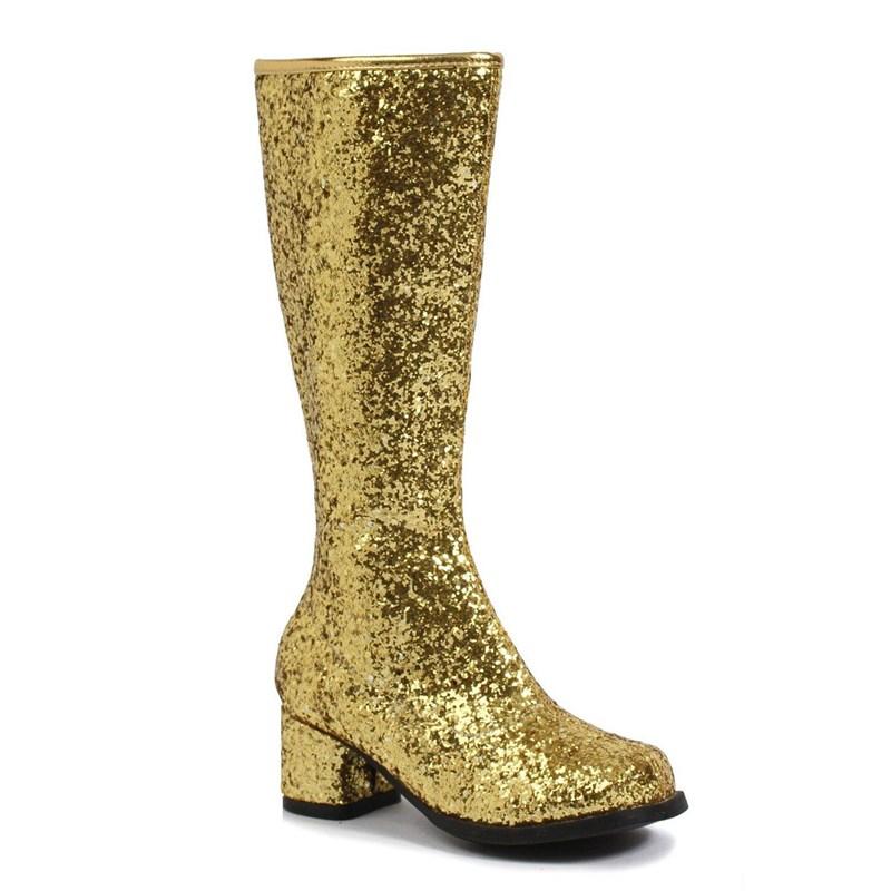 Kids Gold Glitter Gogo Boots for the 2015 Costume season.