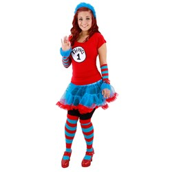 Cat In The Hat Thing 1 and Thing 2 Tutu Adult Costume