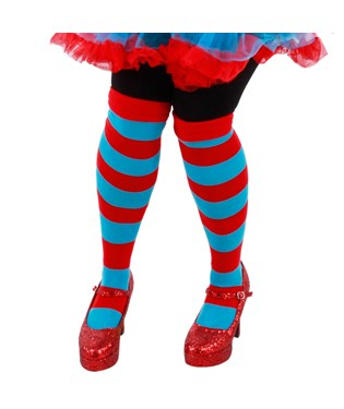 Cat In The Hat Thing 1 And Thing 2 Striped Knee Highs