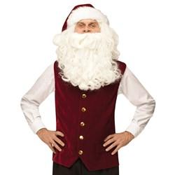 Velvet Santa Vest Hat Adult Costume