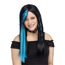 Rave Blue Child Wig