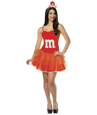 M&MS Red Adult Party Dress