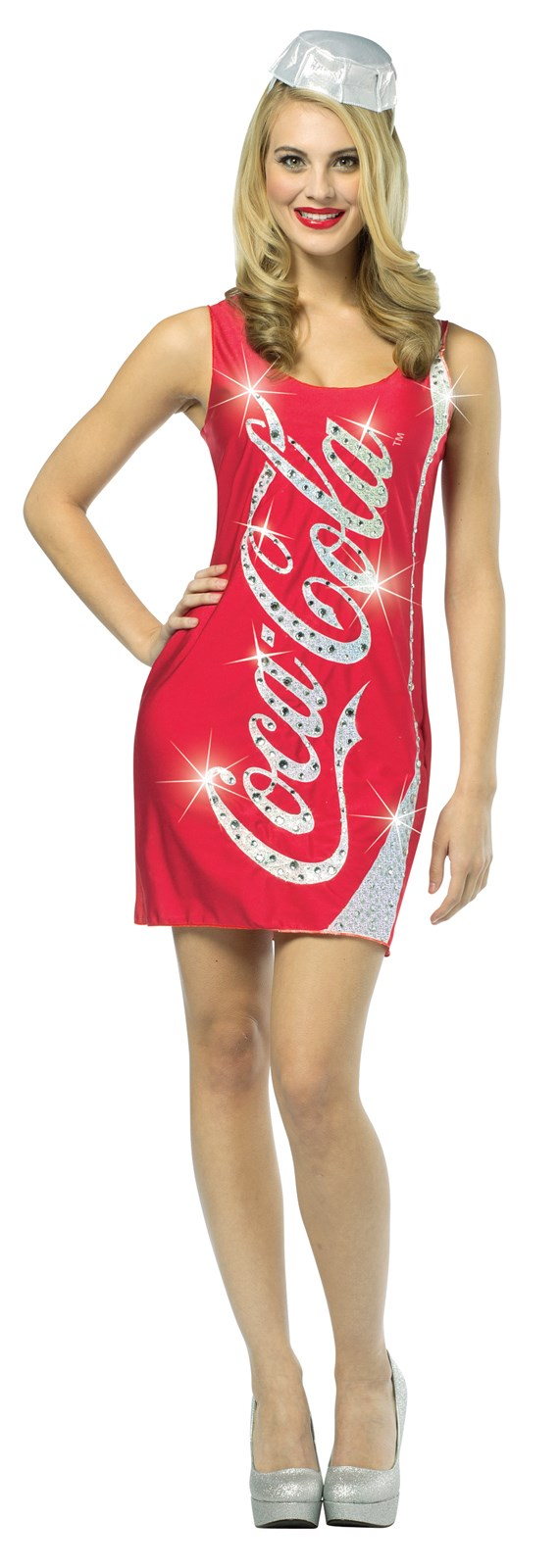 Coca-Cola Glitz Adult Tank Dress