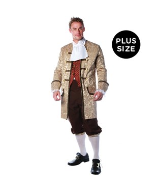Colonial  Man Adult Plus Costume
