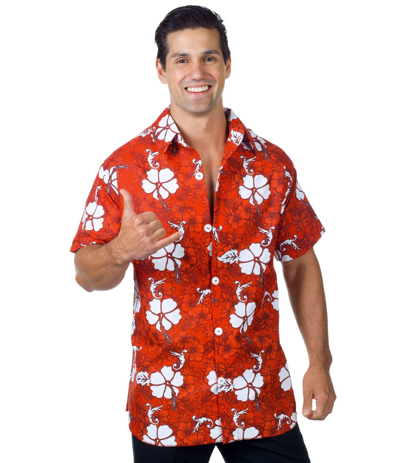 Red Hawaiian Adult Shirt