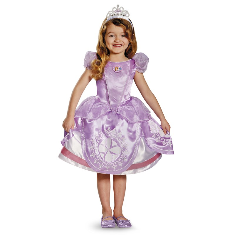 Disney Sofia the First Deluxe Toddler  and  Child Costume for the 2015 Costume season.